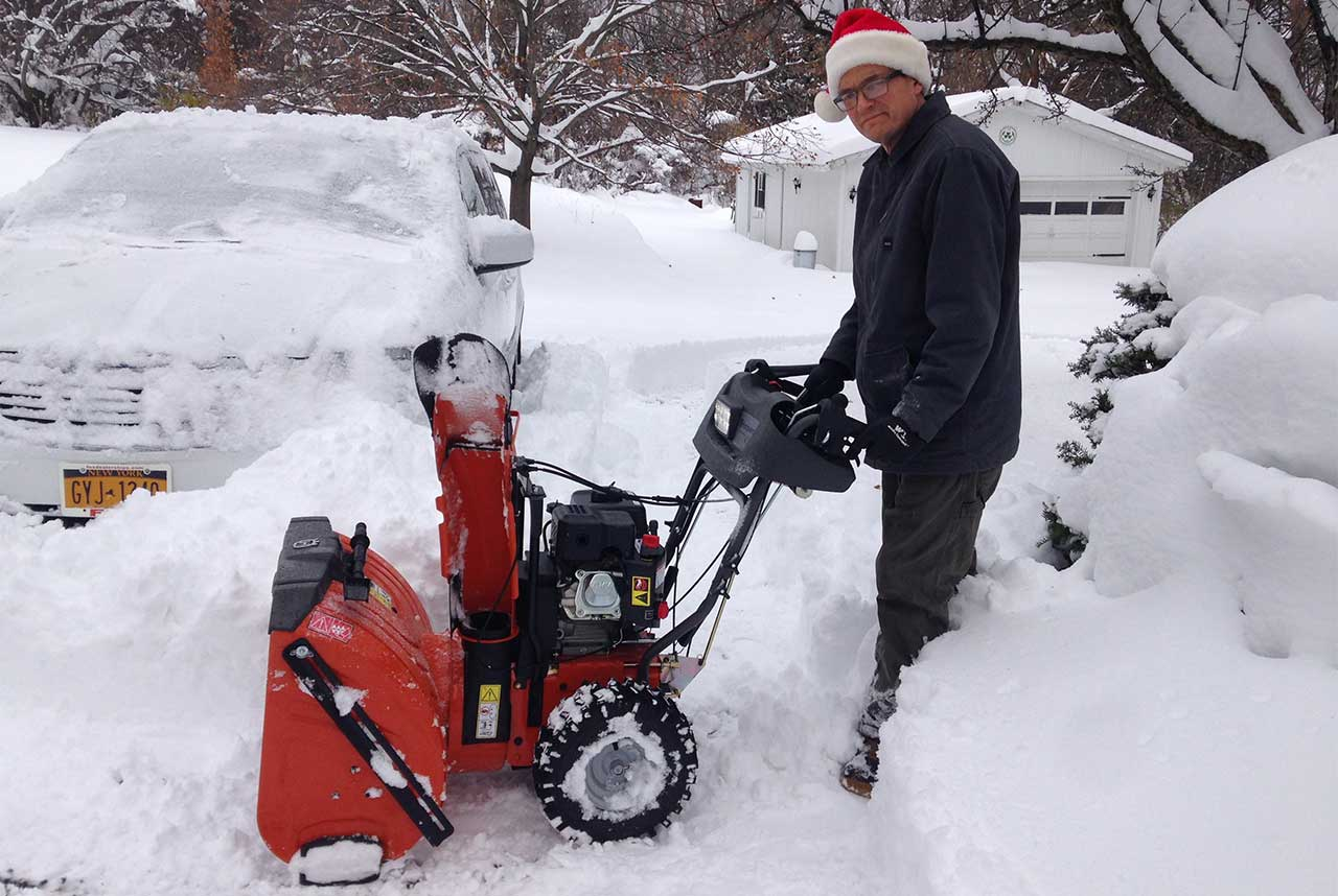 Digging out from under 27 inches of lake effect snow in Seneca Falls